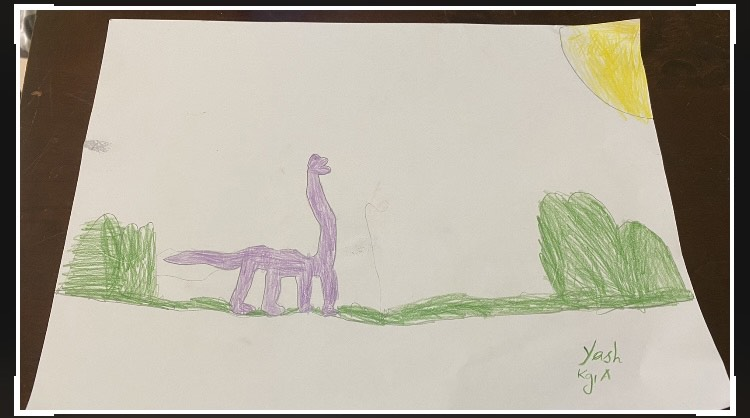 Dinosaur walking through Jungle by Yash Vardhan