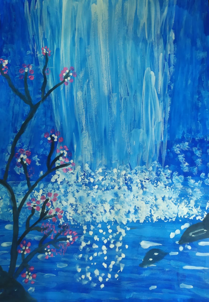 Glittery Waterfall by Devika Rajeev