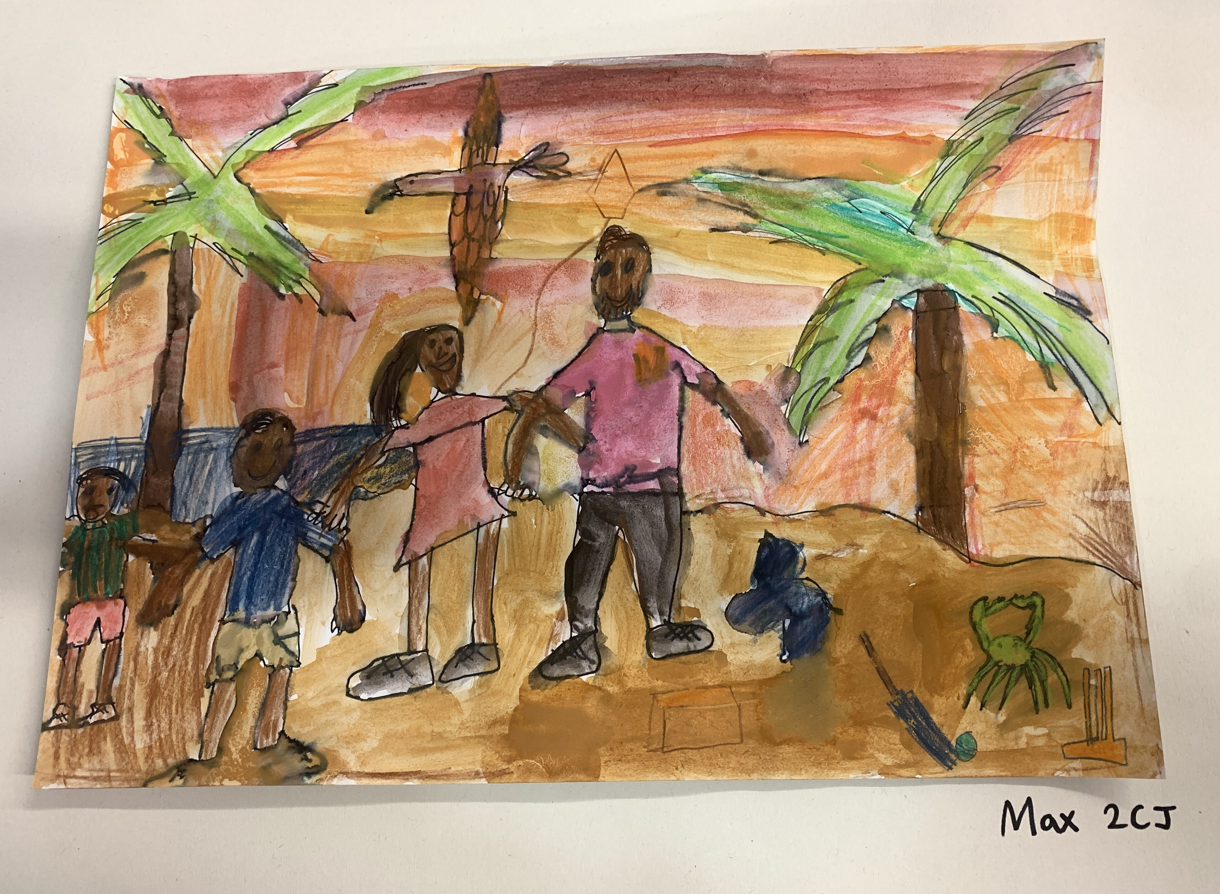 Family in the Desert by Max