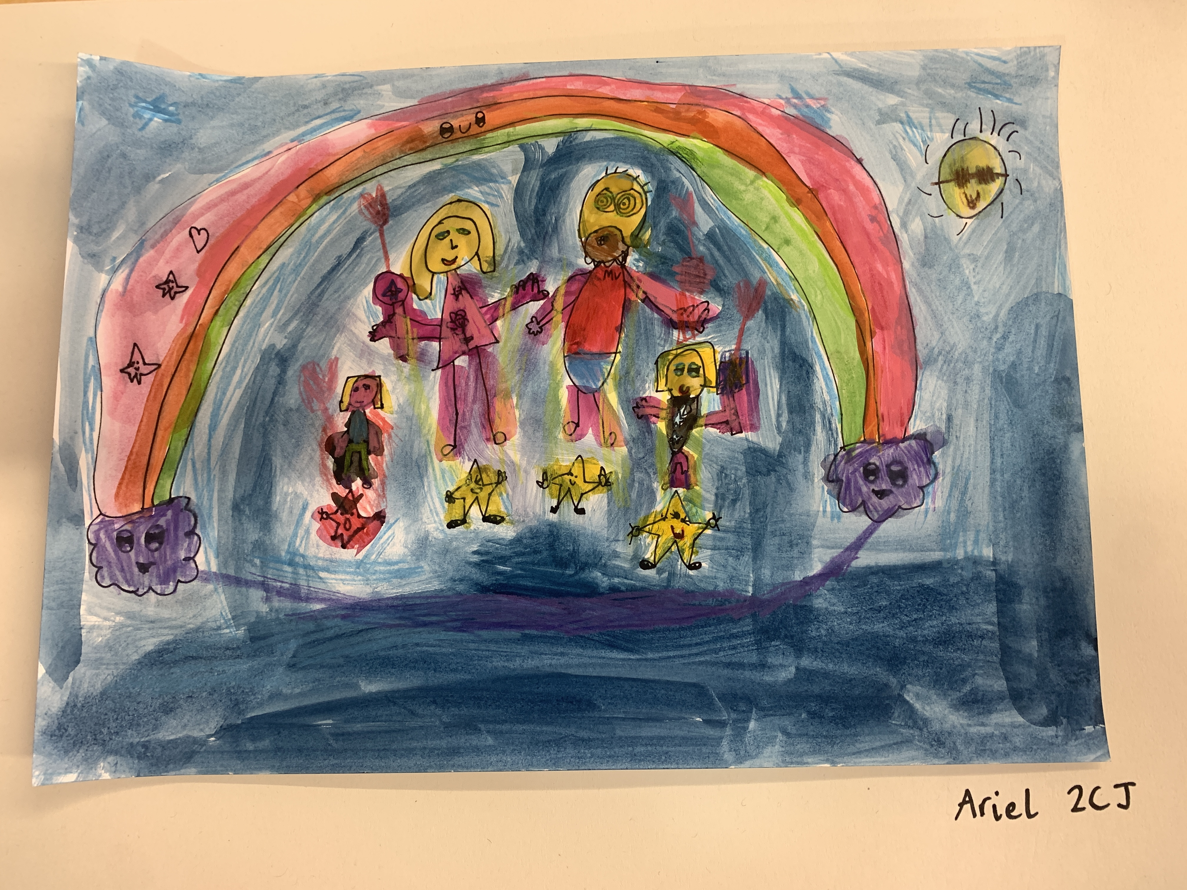 Rainbow over the Sea by Ariel