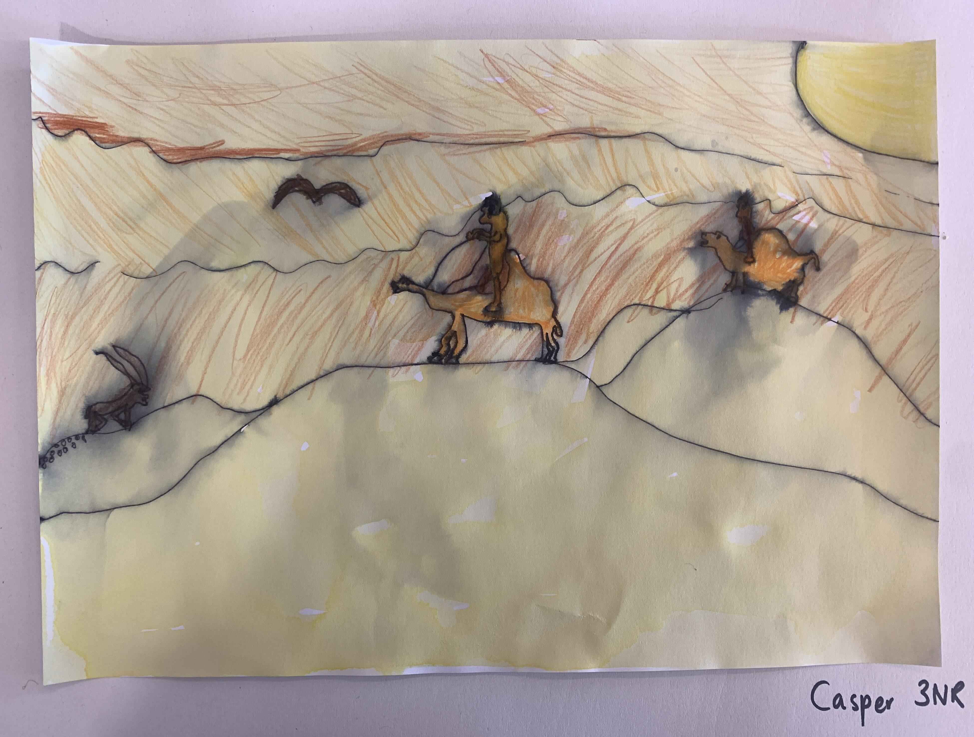 Mum Riding through the Desert by Casper