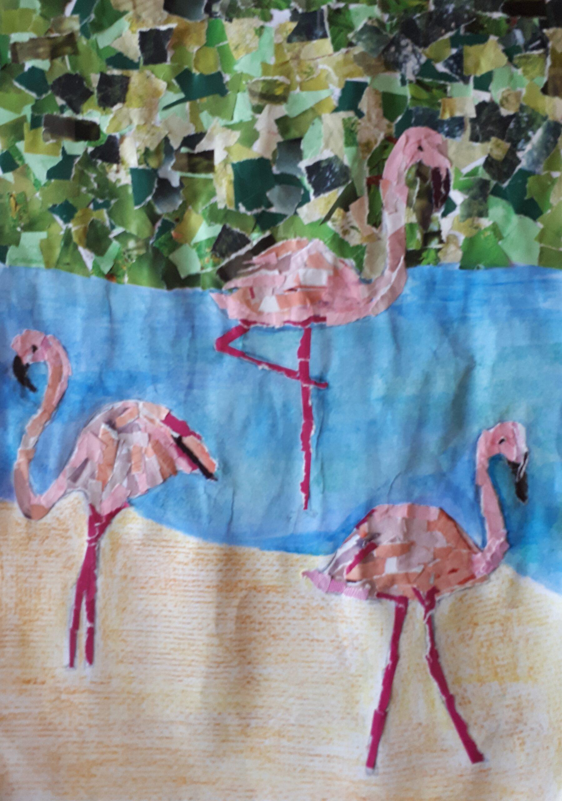Flamingos at Ras Al Khor by Athali Sushenya Fernando