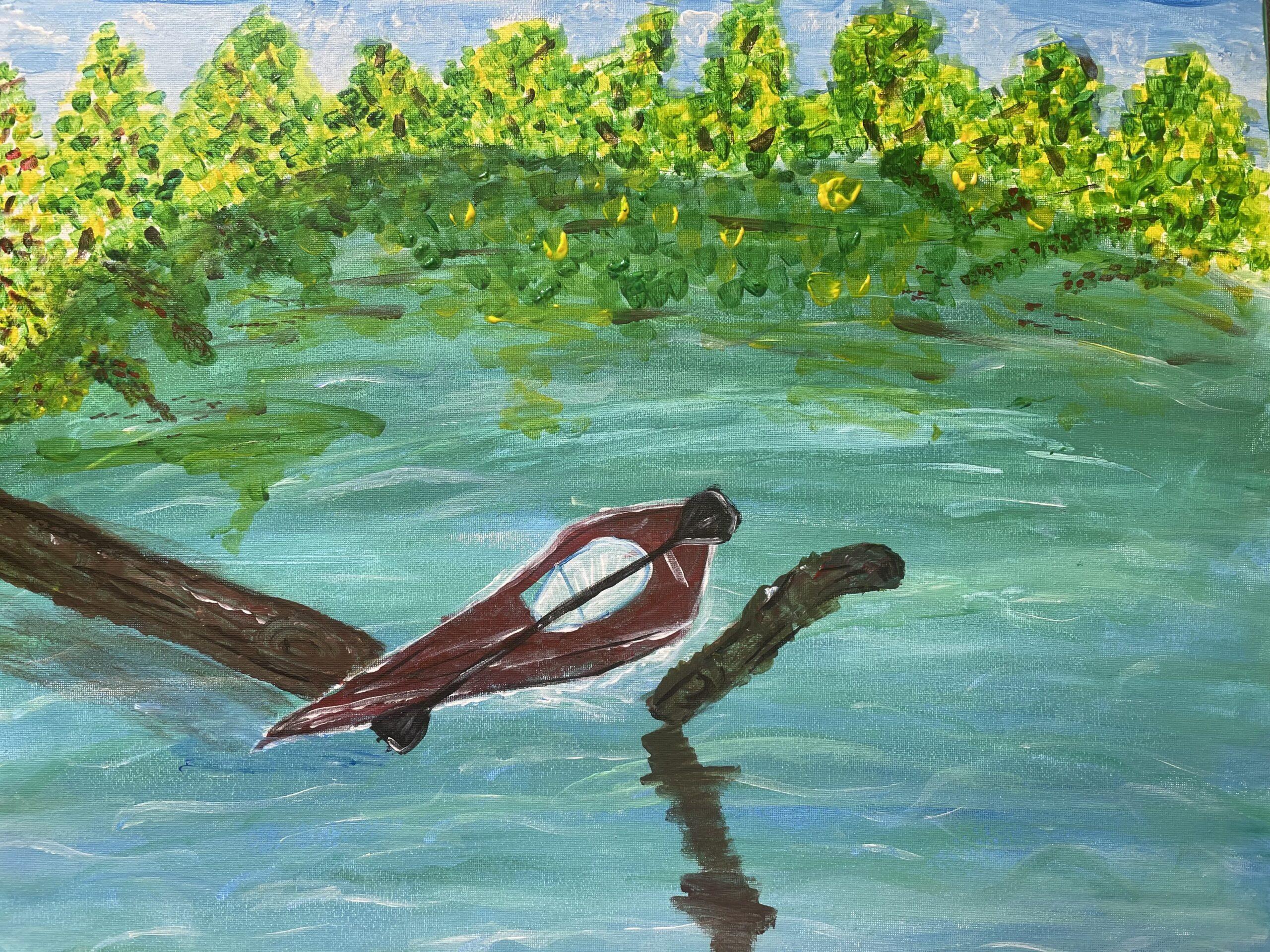 Kayak at Al Zorah Mangroves by Nishka Aggarwal