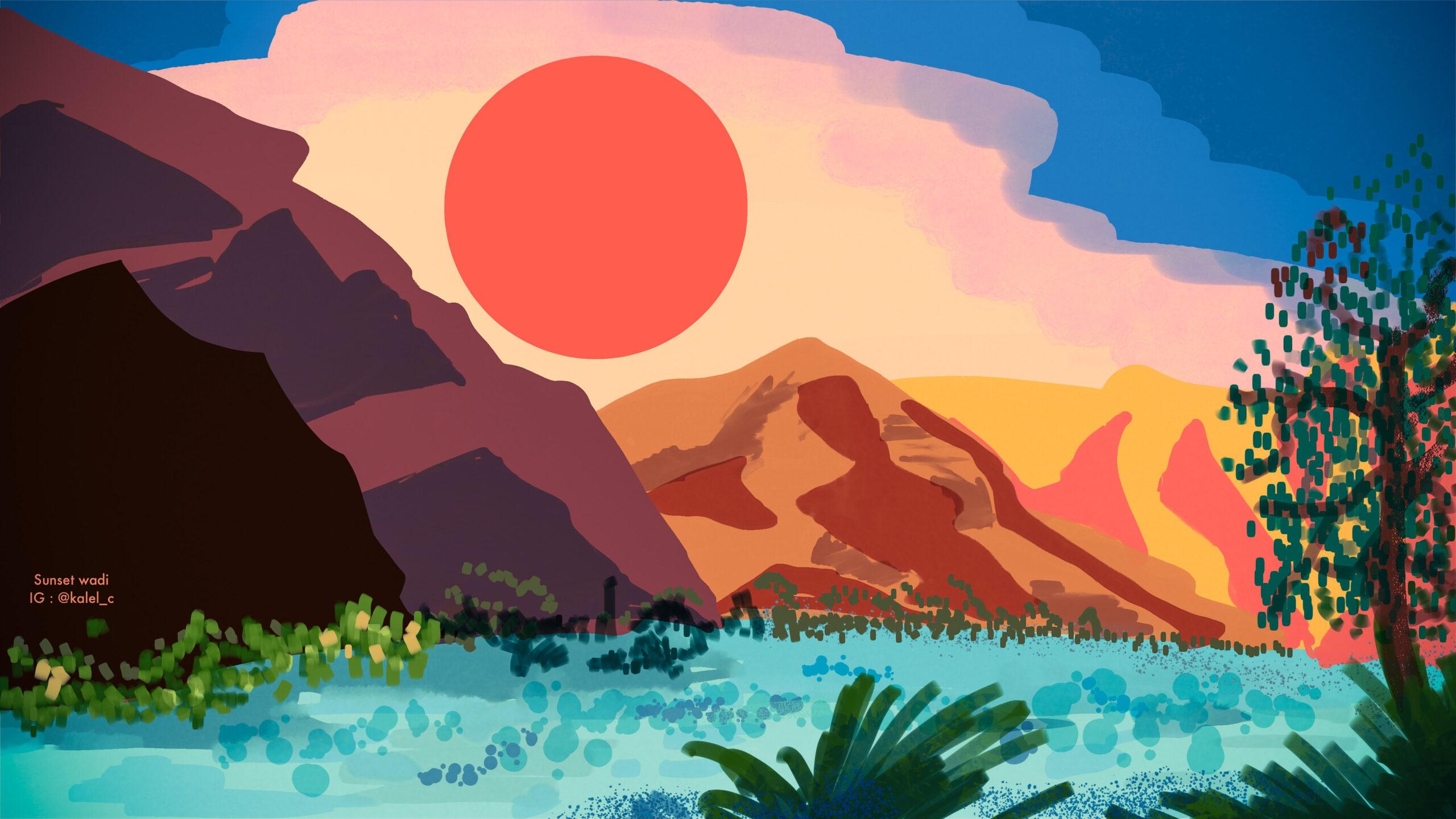 Sunset Wadi by Kalel Castro