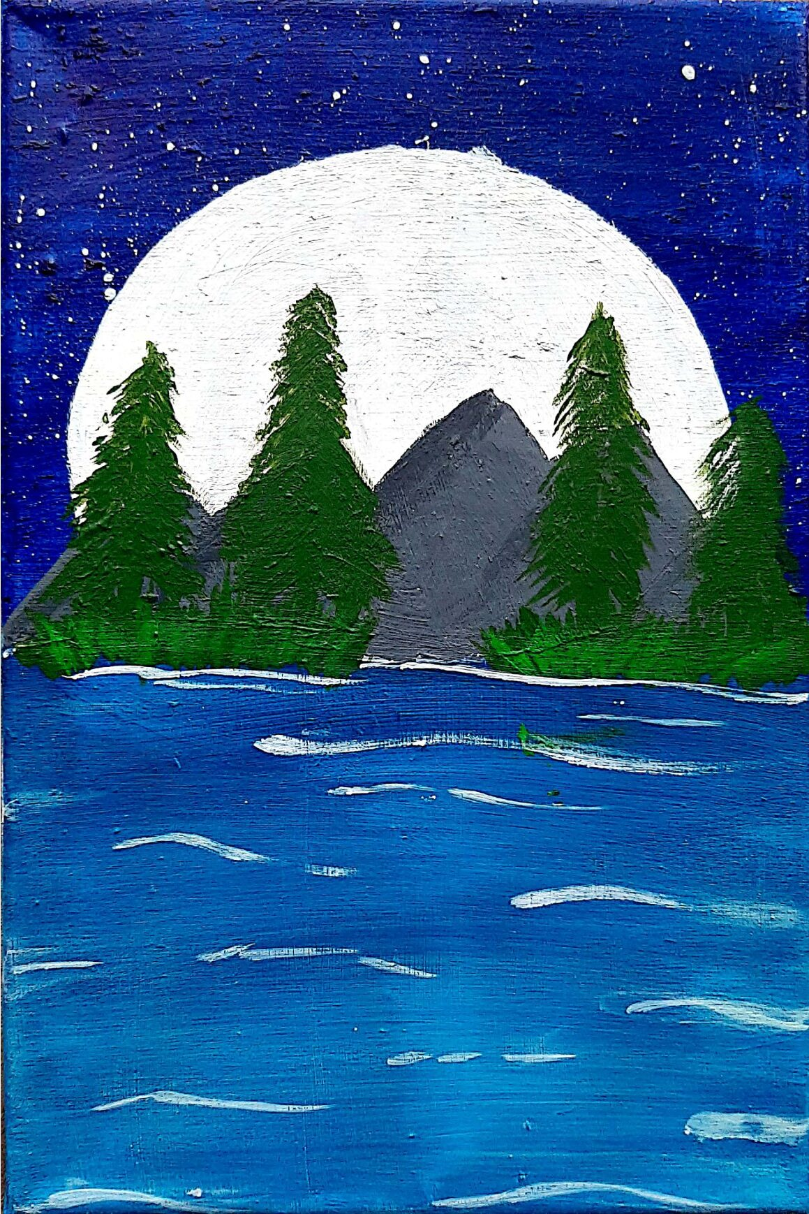 Night Sky with Mountains by Thabitha Sharon Simson