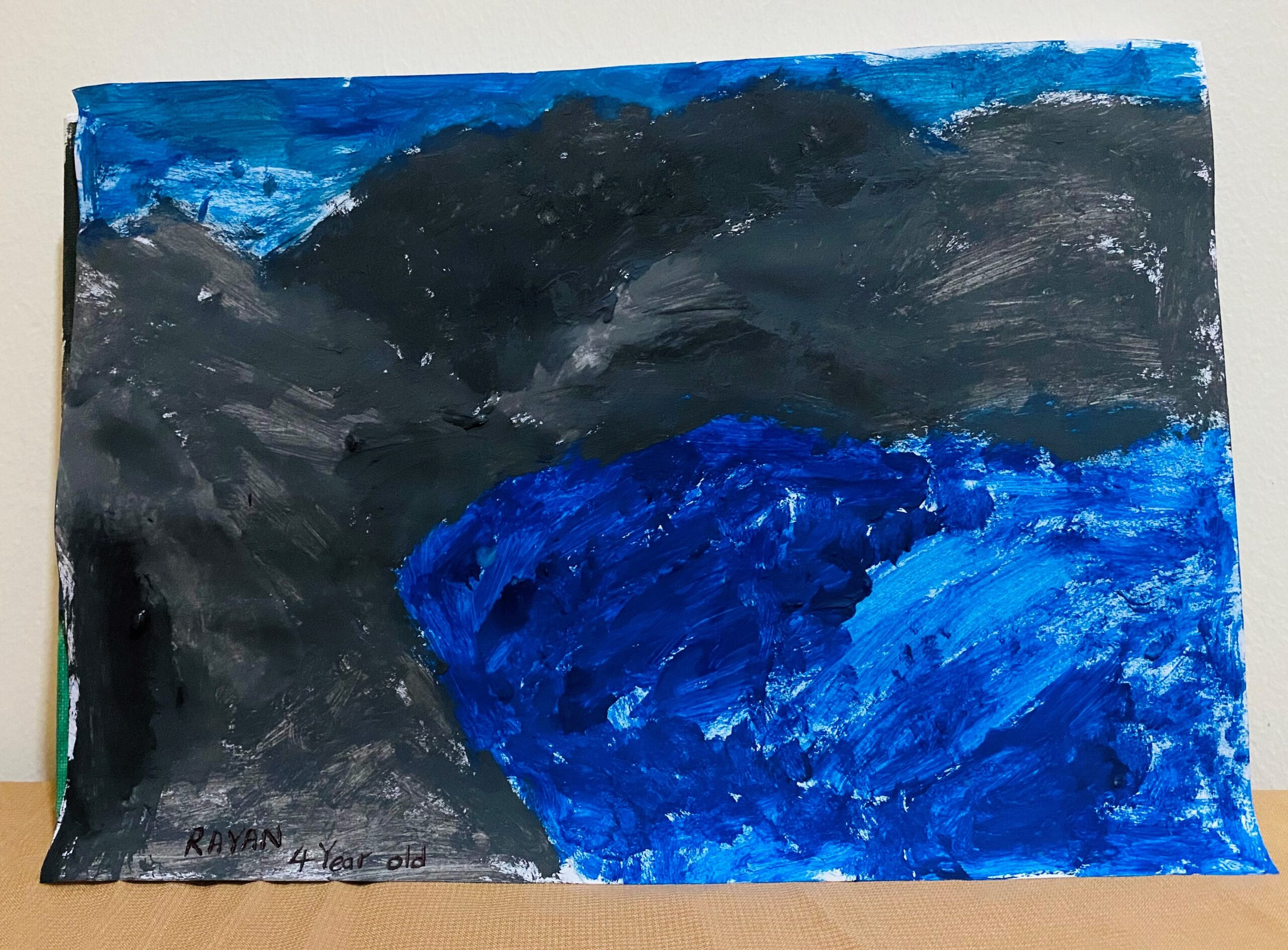 Deep blue see with the rocks by Rayan Ashpak