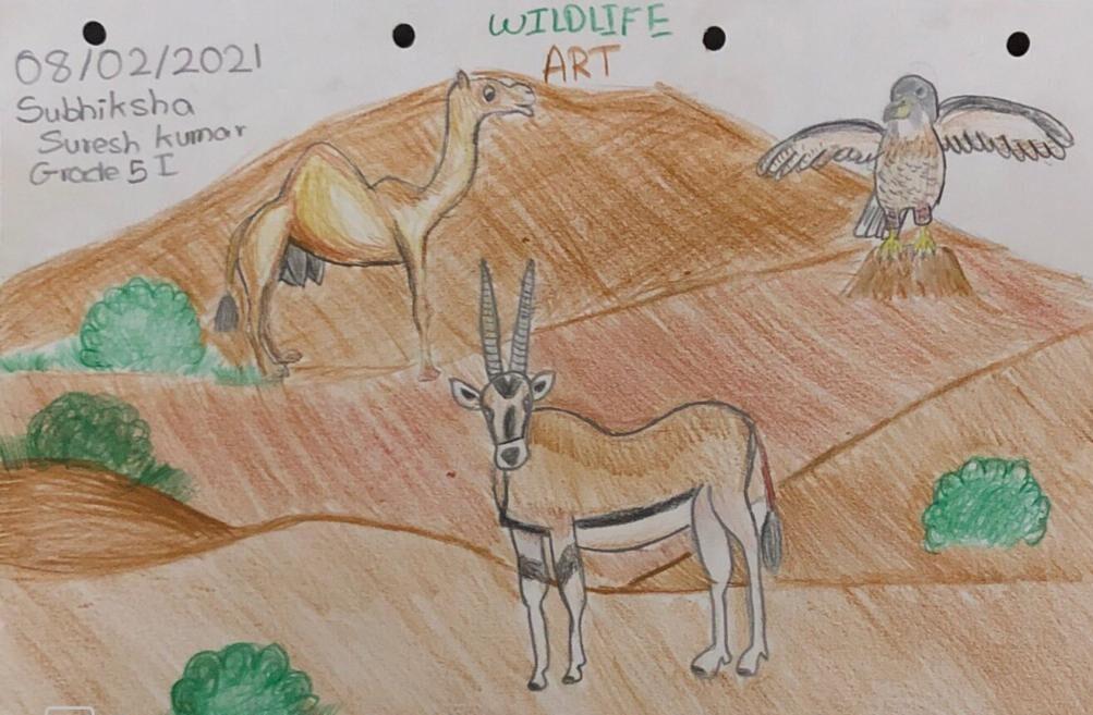 Wildlife Art by Subhiksha Suresh Kumar