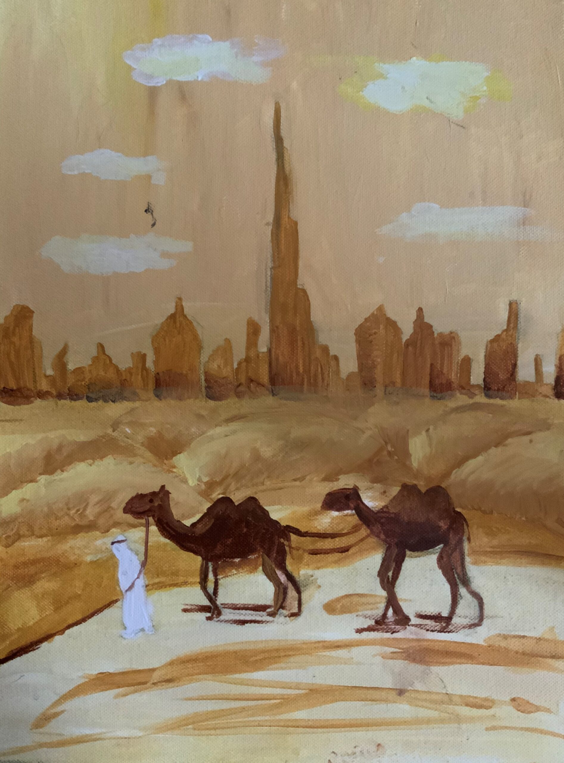 Desert landscape by Sophie Bekmurzaeva