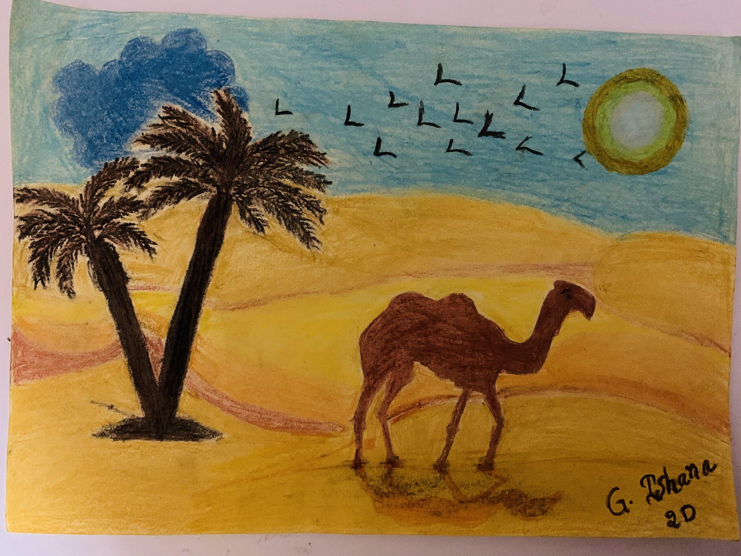 UAE Desert Sunset by Ishana Gaddam