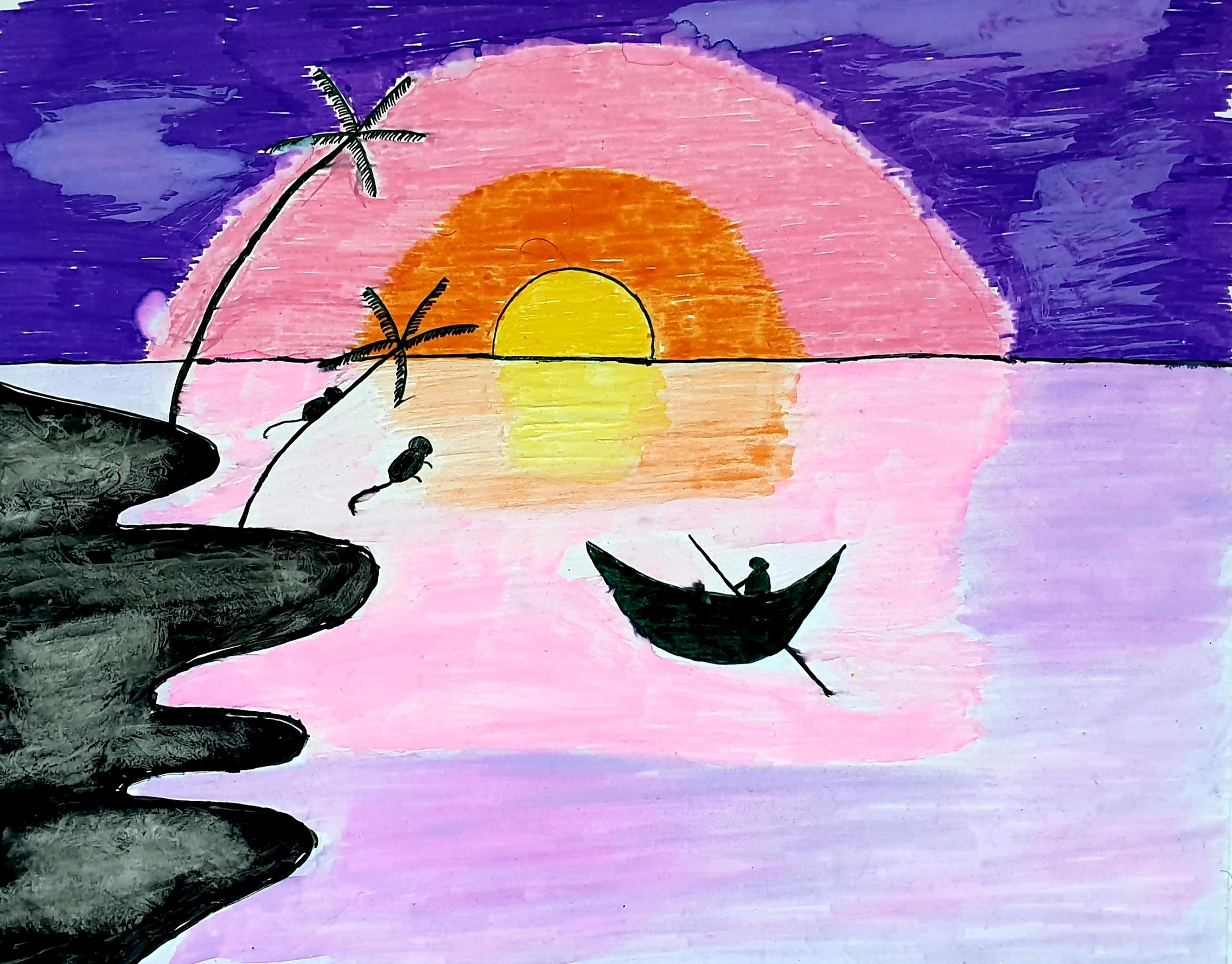 Kayaking At Sunset by Parvati Prajith