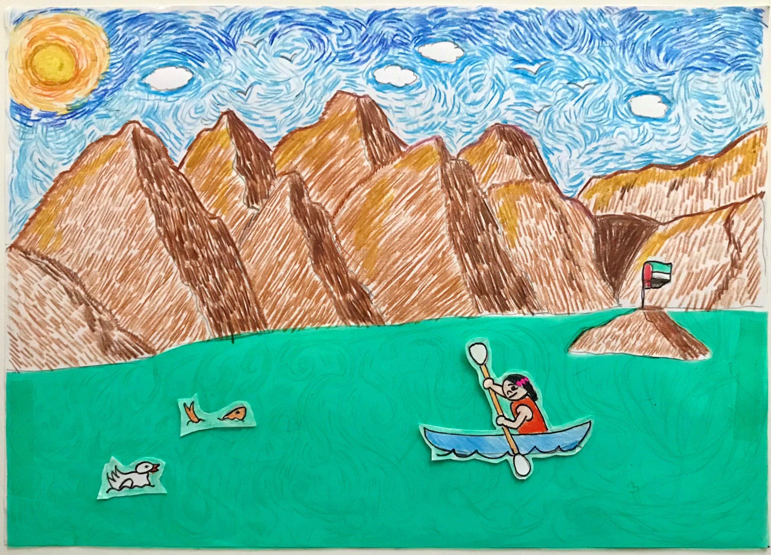 First Kayak Ride – Hatta Mountain Lake by Maria Cristina Bautista