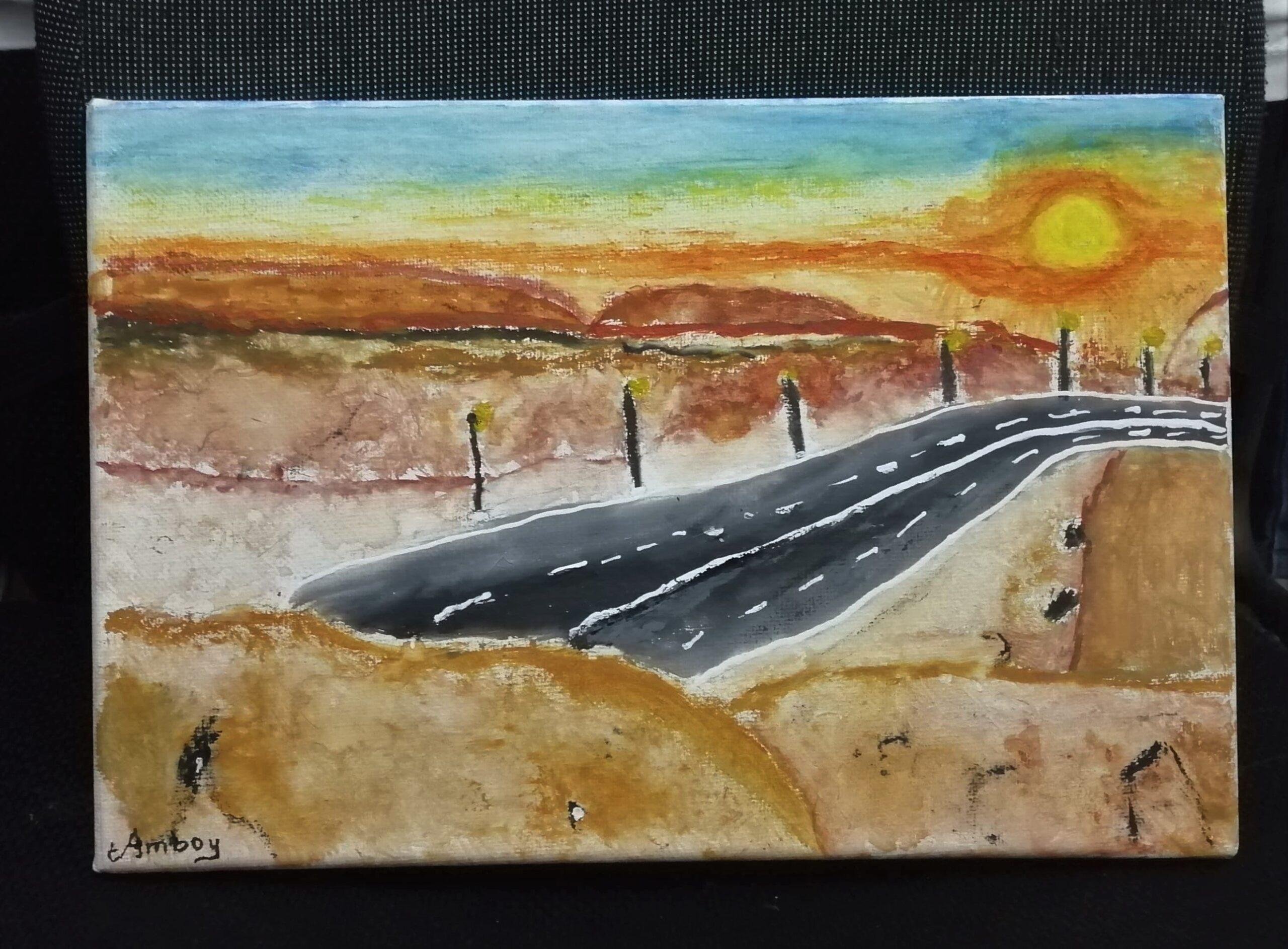 Sunrise at Jebel Haffet by Gabryllen Ayisha Amboy