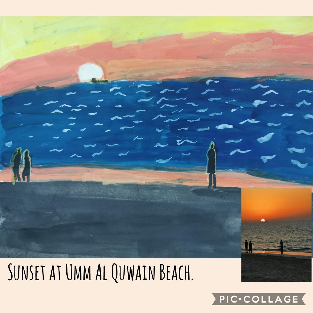 Sunset at Umm Al Quwain Beach by Rhian Lexie L. Baldon