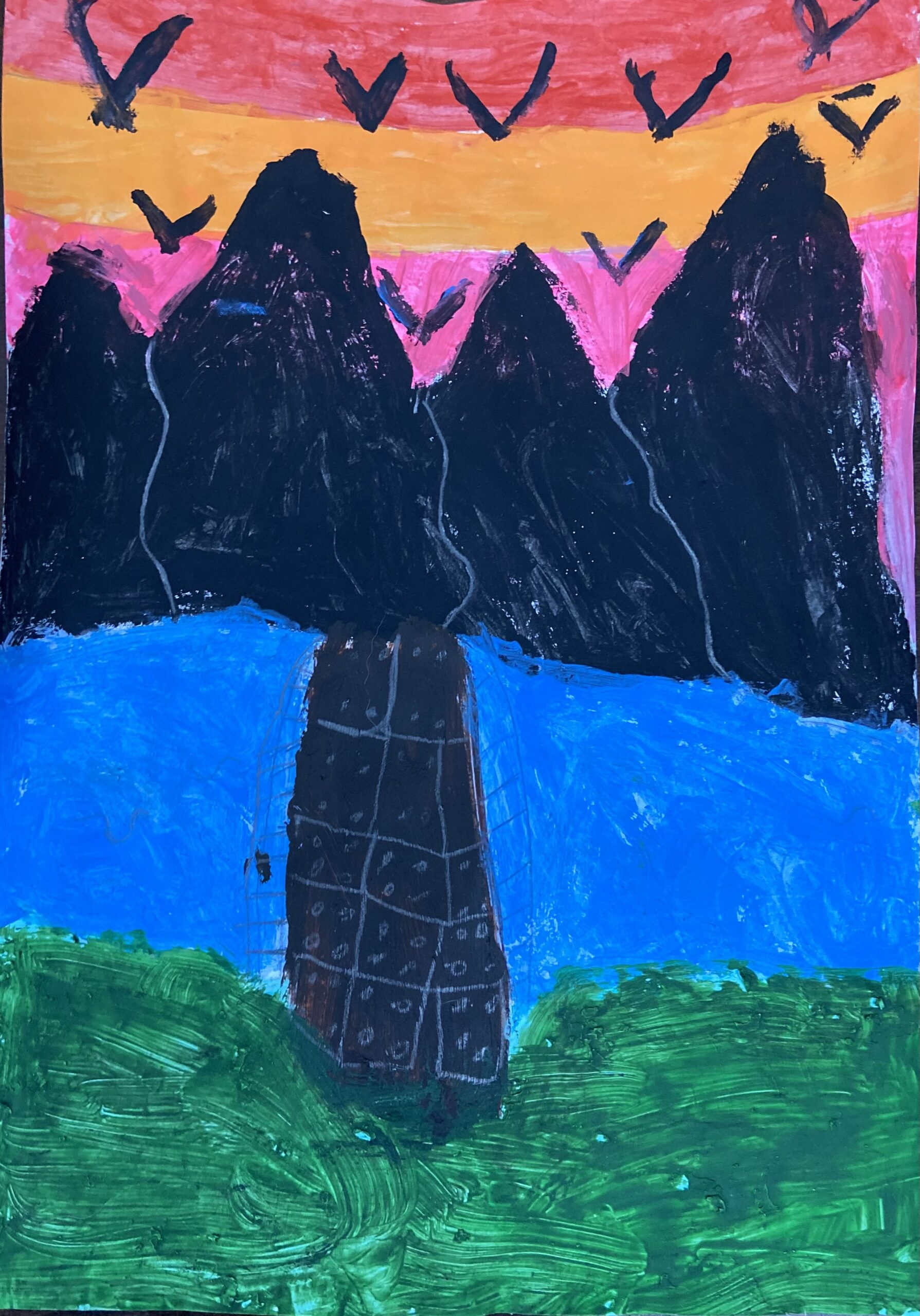 Sunset Mountain by Isabella Panozzo