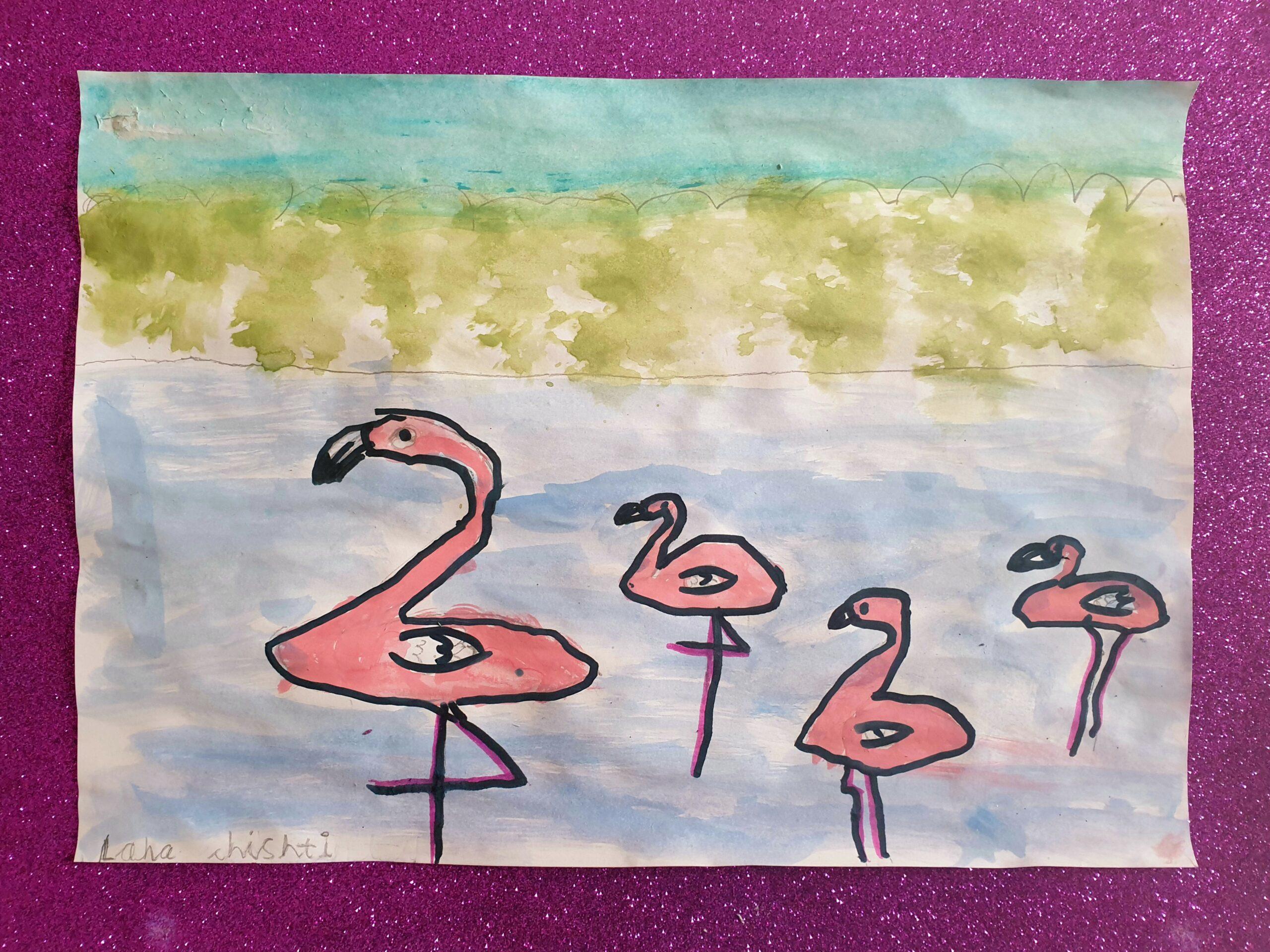 Flamingoes by Lana Chishti
