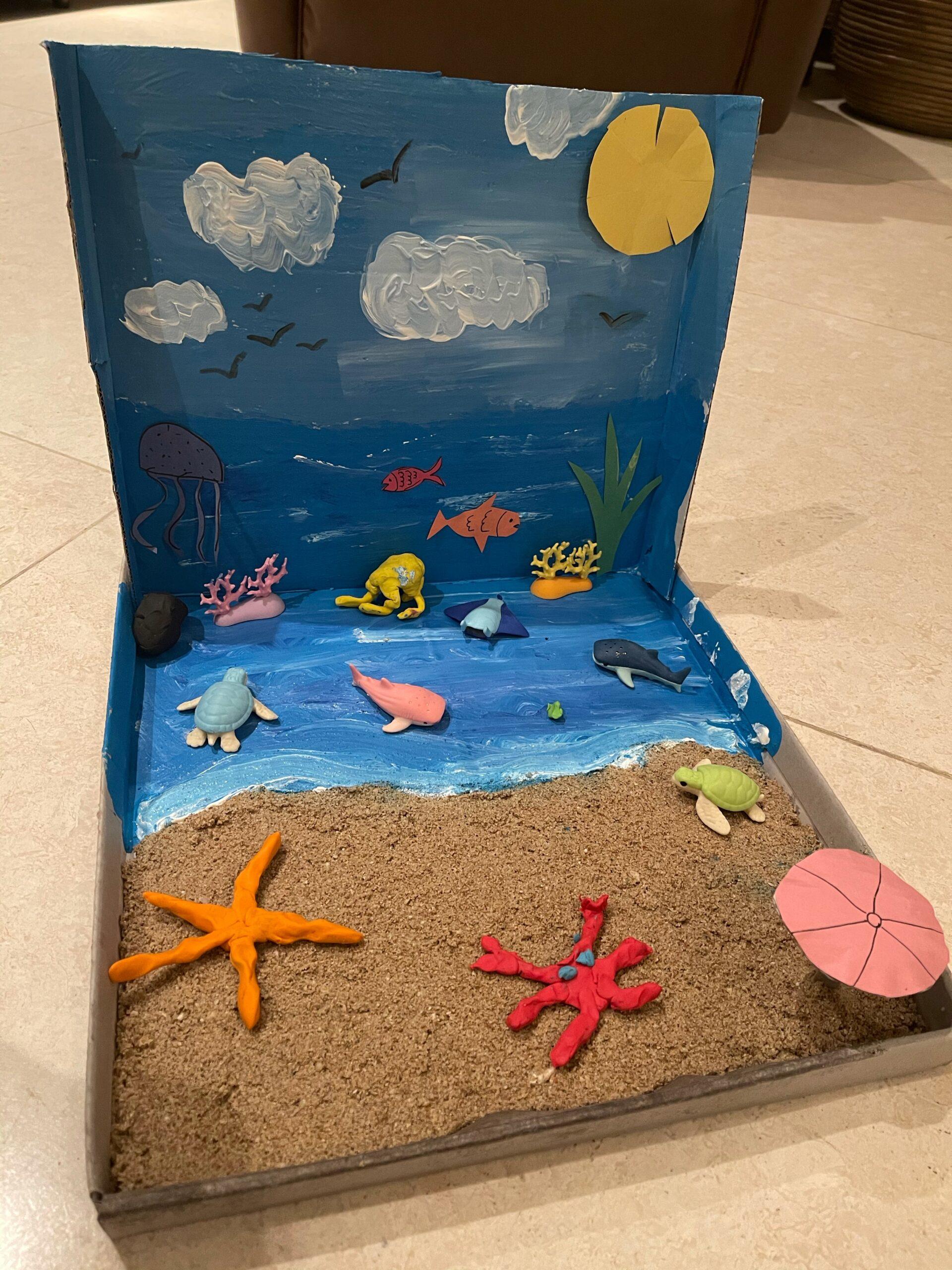 Beach on a Box by Lubna Albatanjeh
