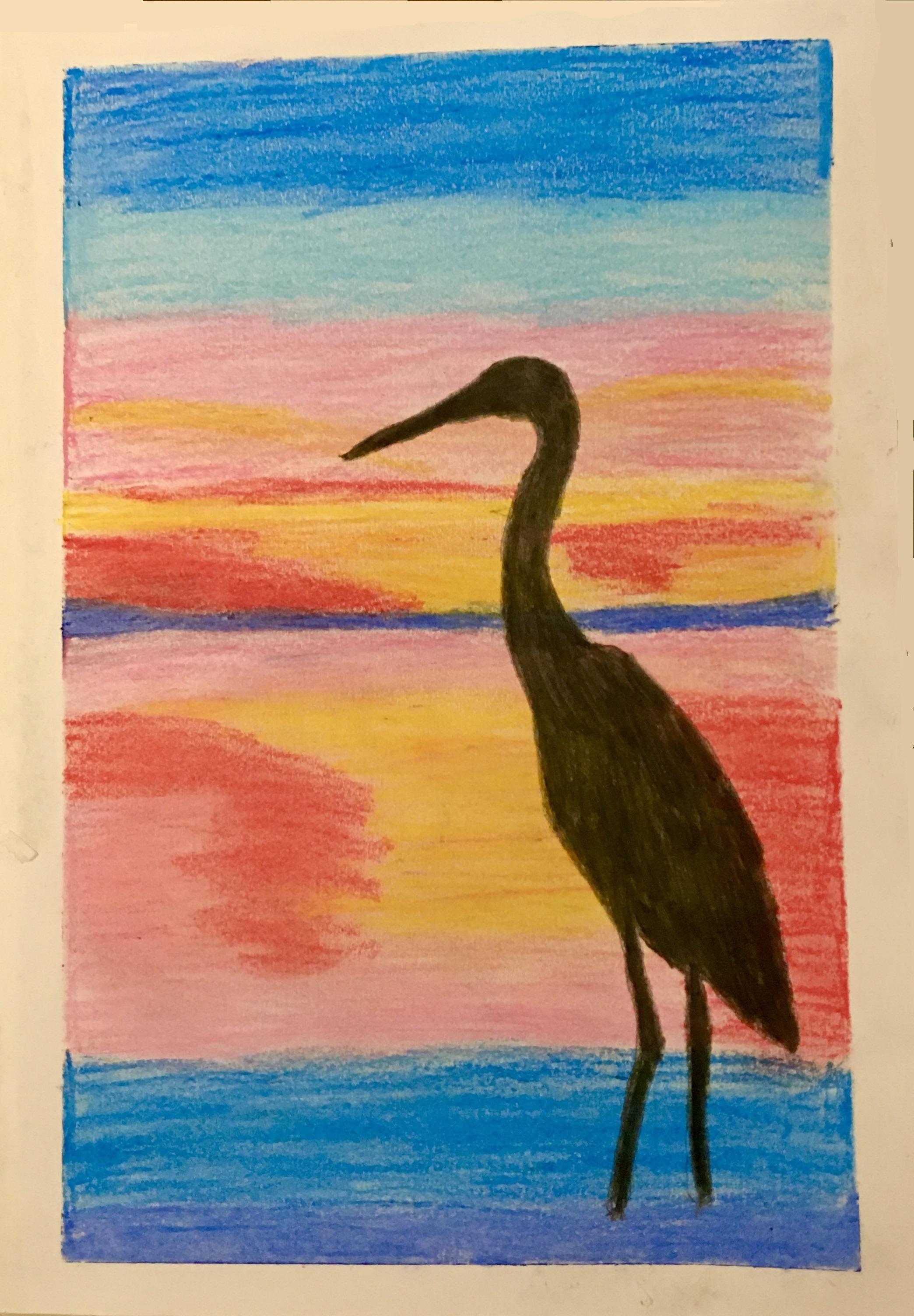 Egret in Ras Al Khor Wildlife Sanctuary in Dubai by Evelyn Elizabeth Suhas
