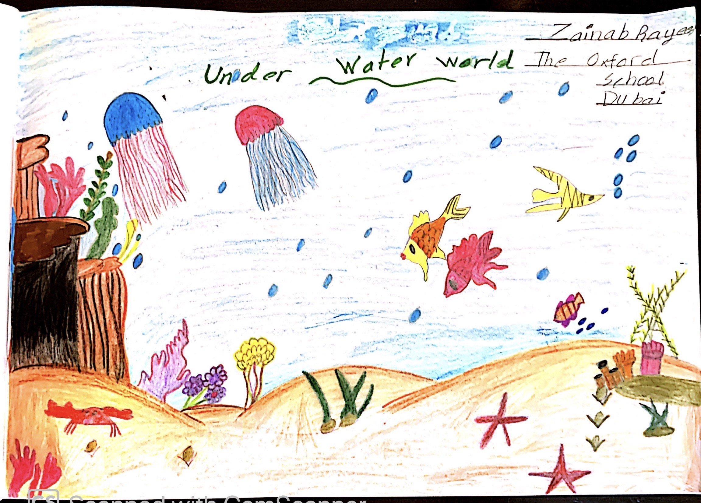 Under Water World by Zainab Rayees Kunhi