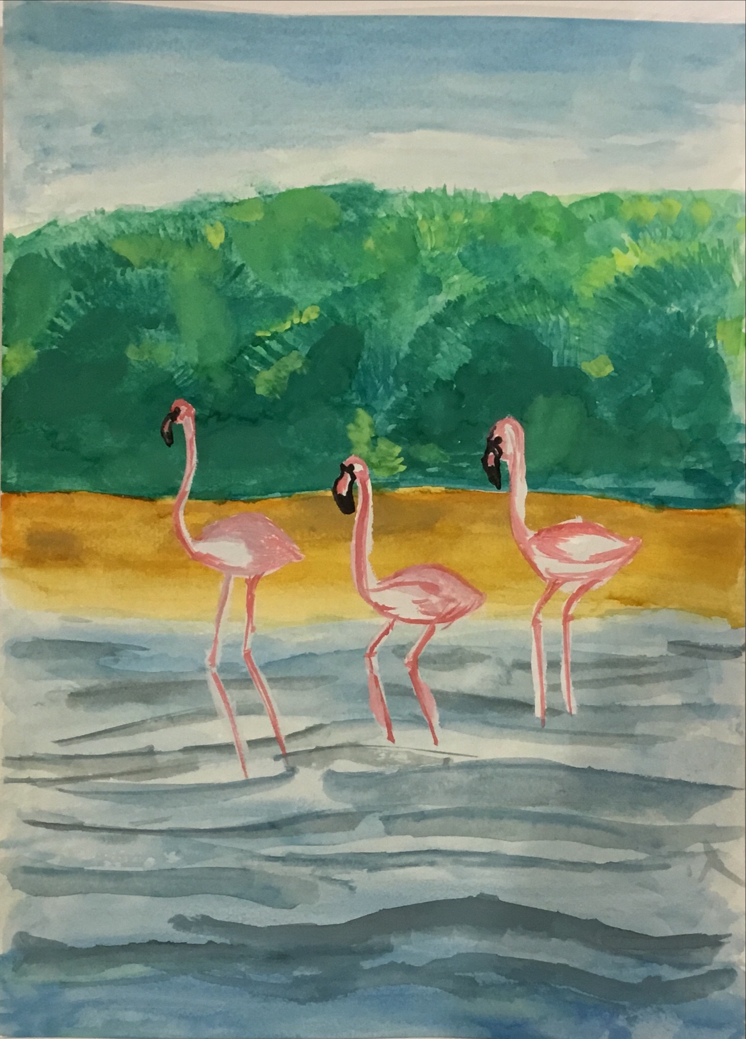 Ras Al Khor Mangroves and Flamingos by Amina Mehek Zohra