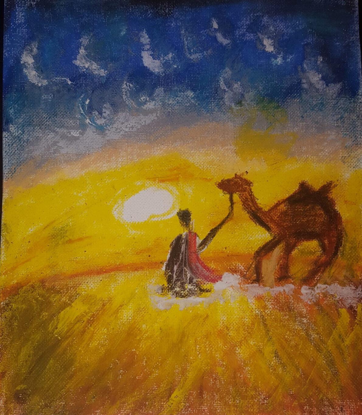 Desert Sunset by Ahmad Samir