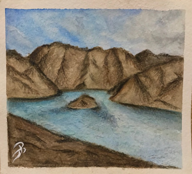 Hatta lake by Dana Aiman