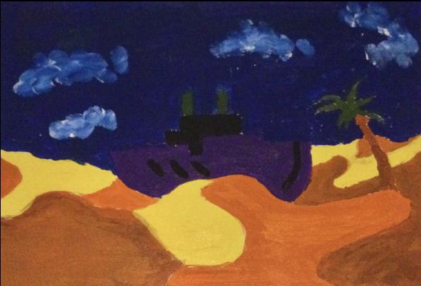 The Ship in the Desert by Fabio Rivetti
