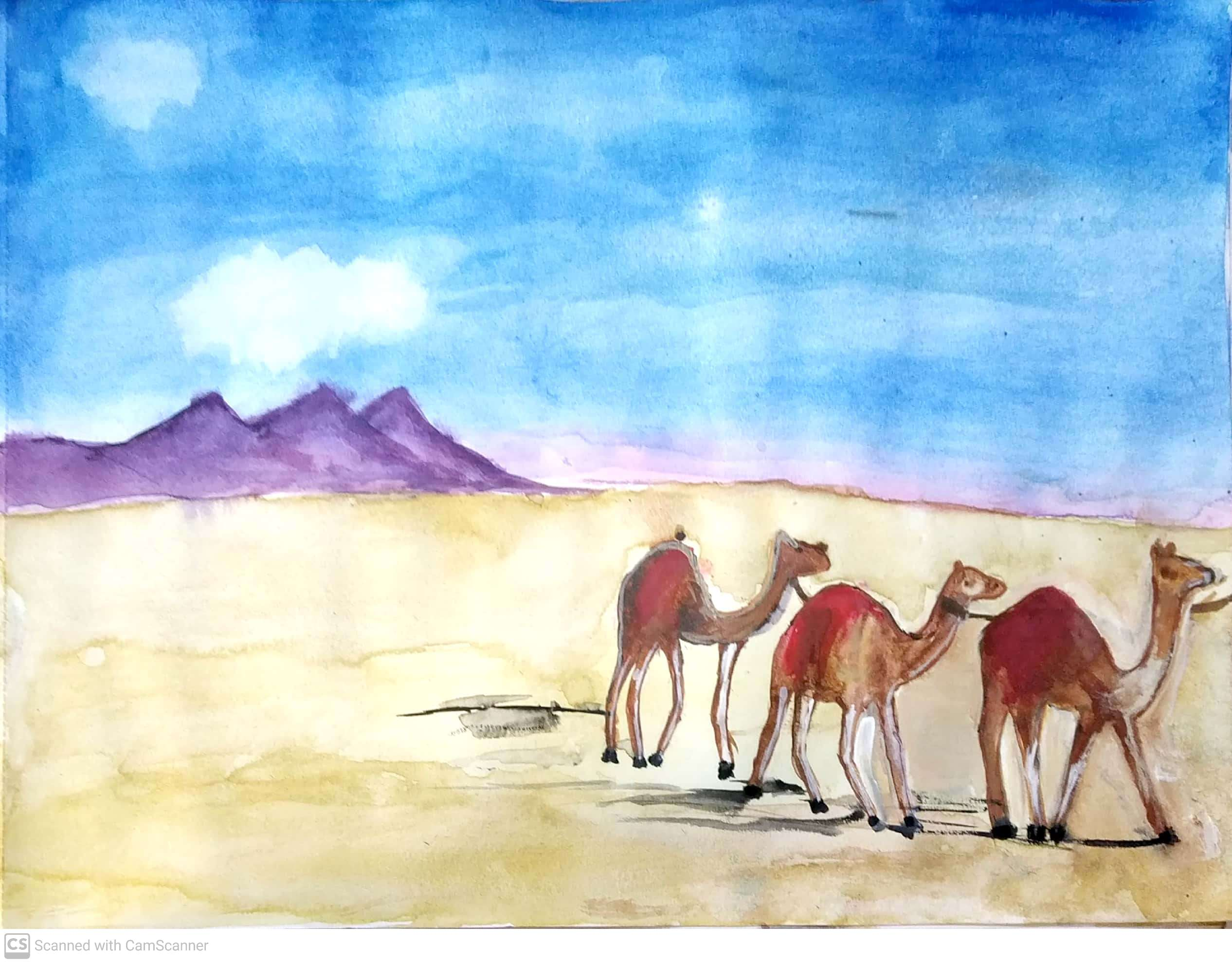 The ship of the desert explains the serenity of it by Manasvi Bordia