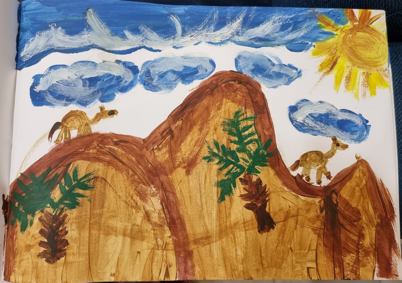 Desert Nature in my Home Country by Zahra Hosni Mubarak Al-Humairi
