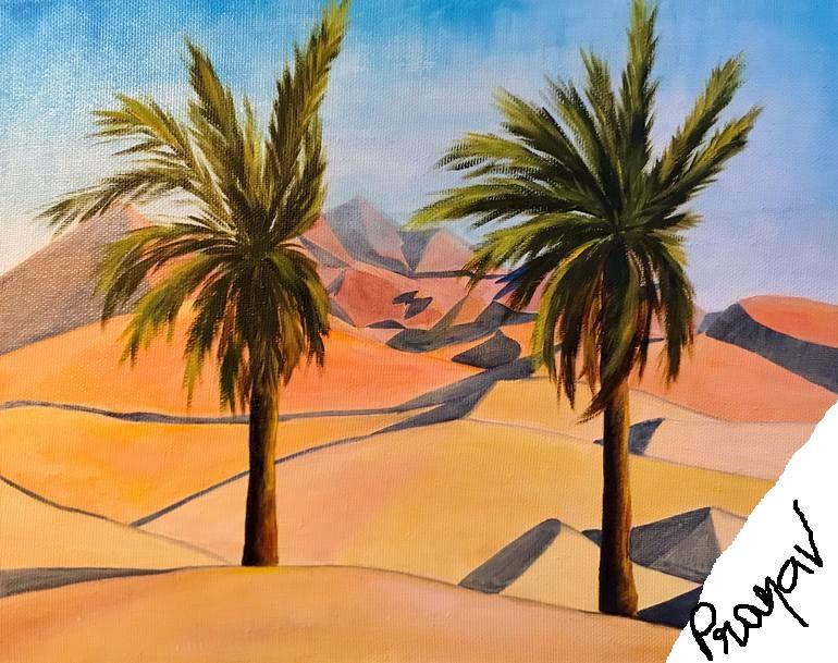 UAE ART IN NATURE by Pranav Reddy