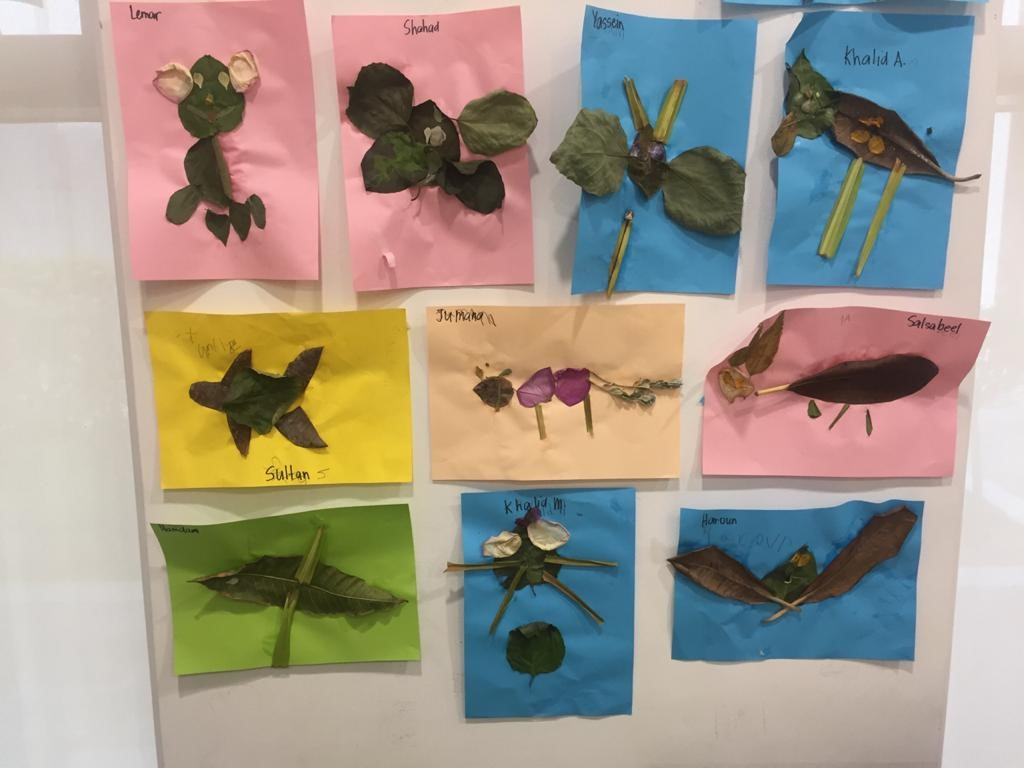 Leaf Animals by Grade 1A – Ms. Amy's class