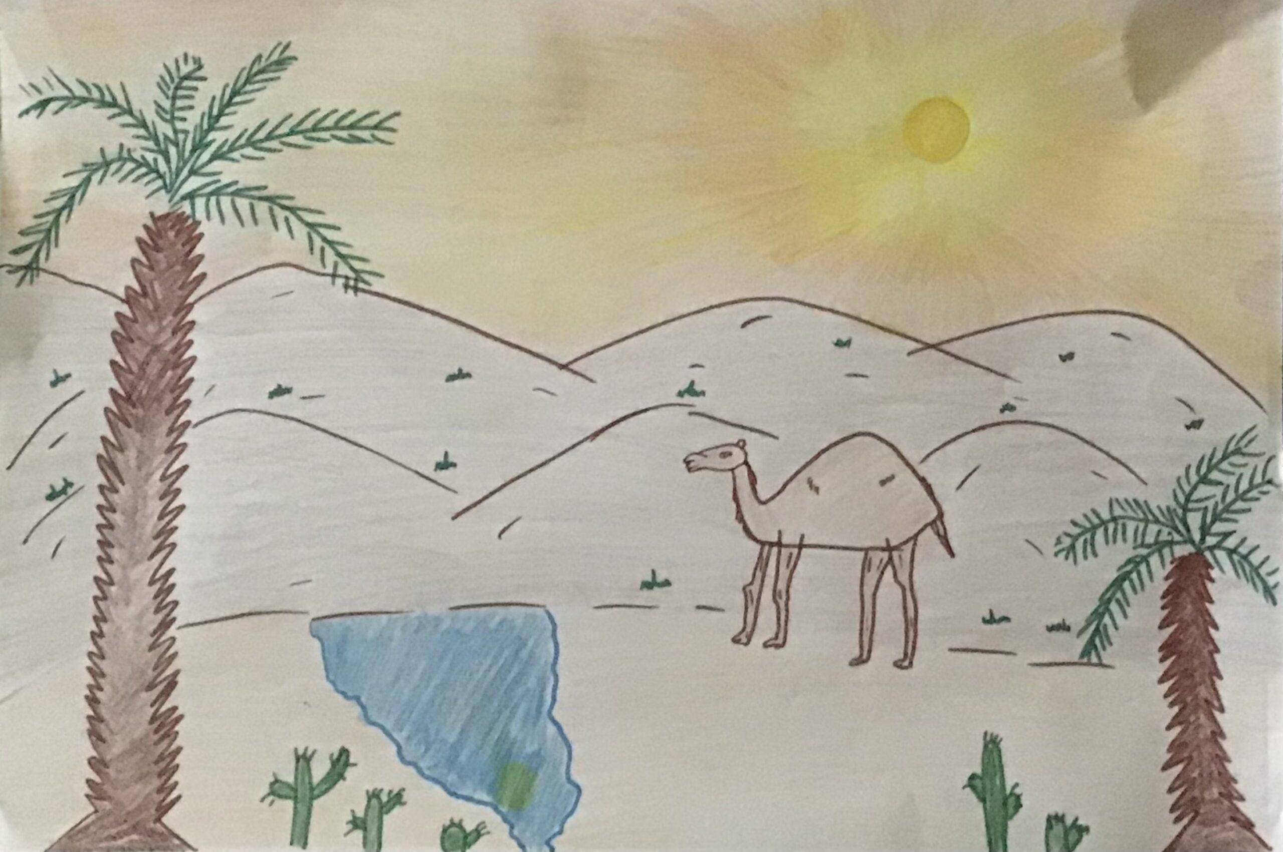 Golden Time at the Desert by Omar Mohamed