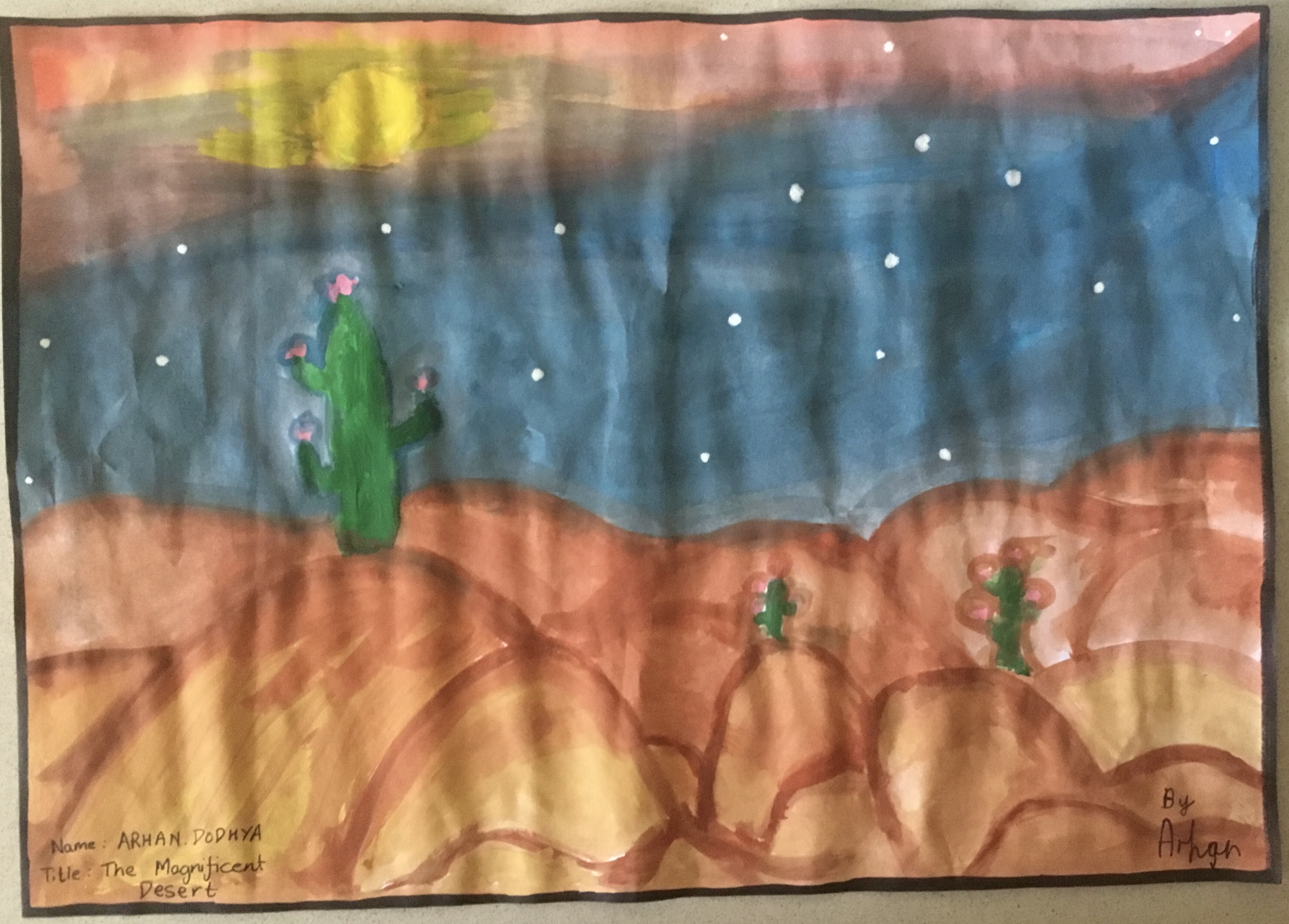The Magnificent Desert by Arhan Dodhya
