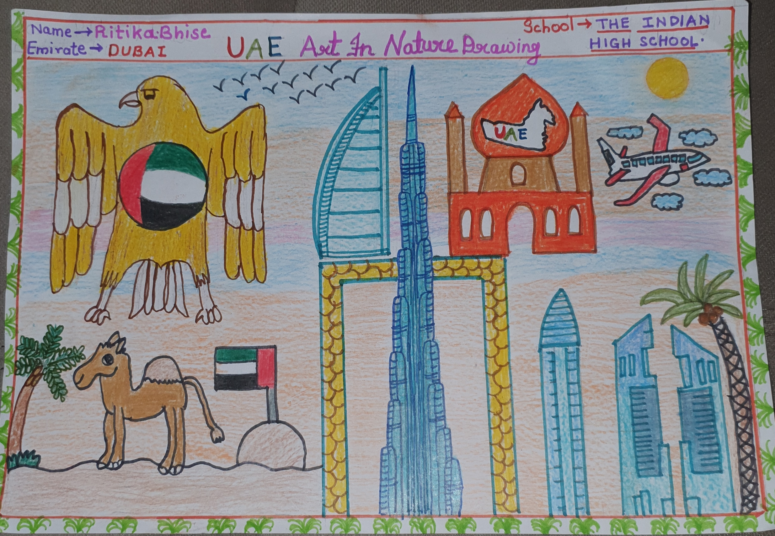 UAE Art in Nature by Ritika Bhise