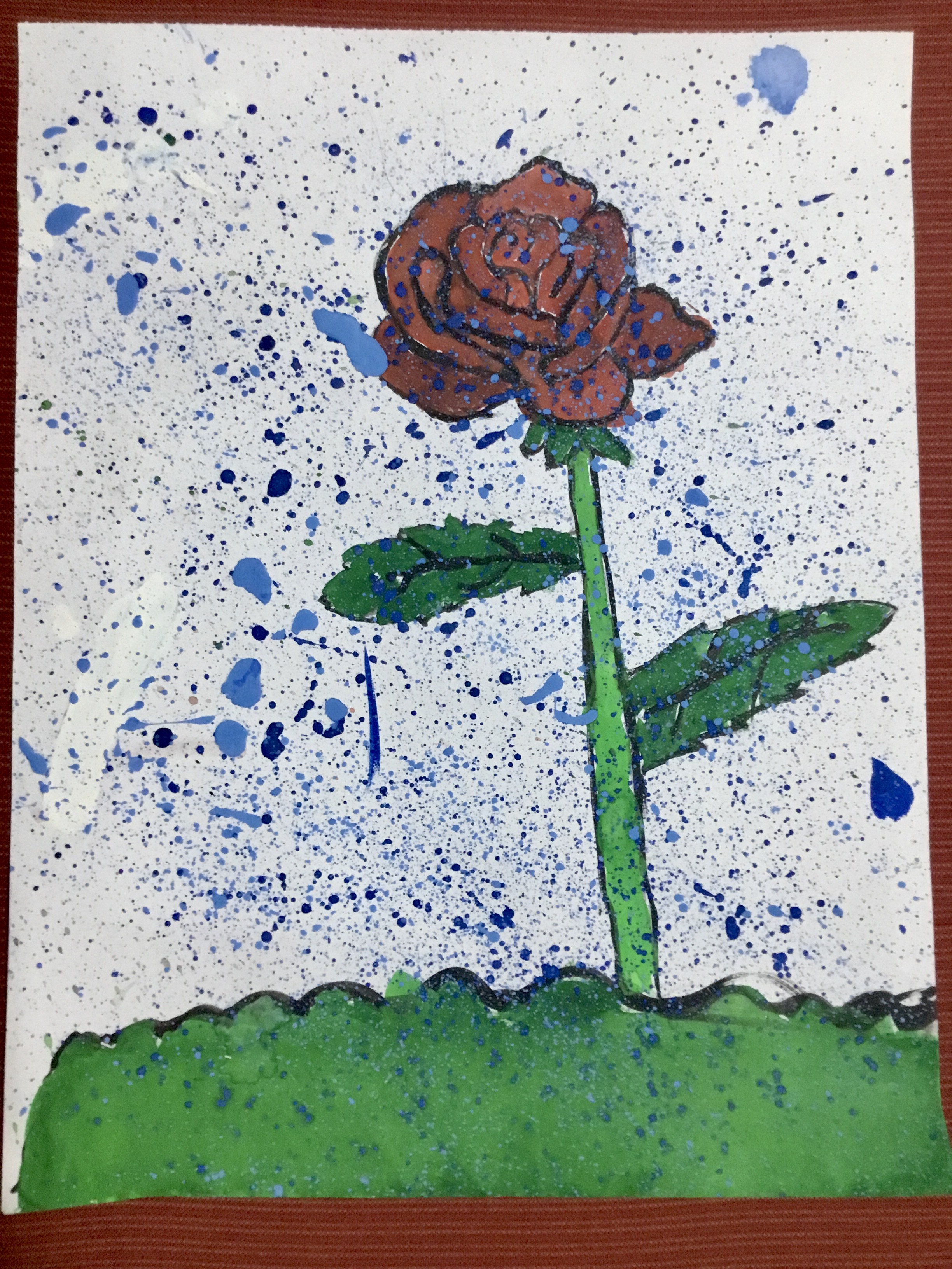 Rose in Rain by Maya Langer