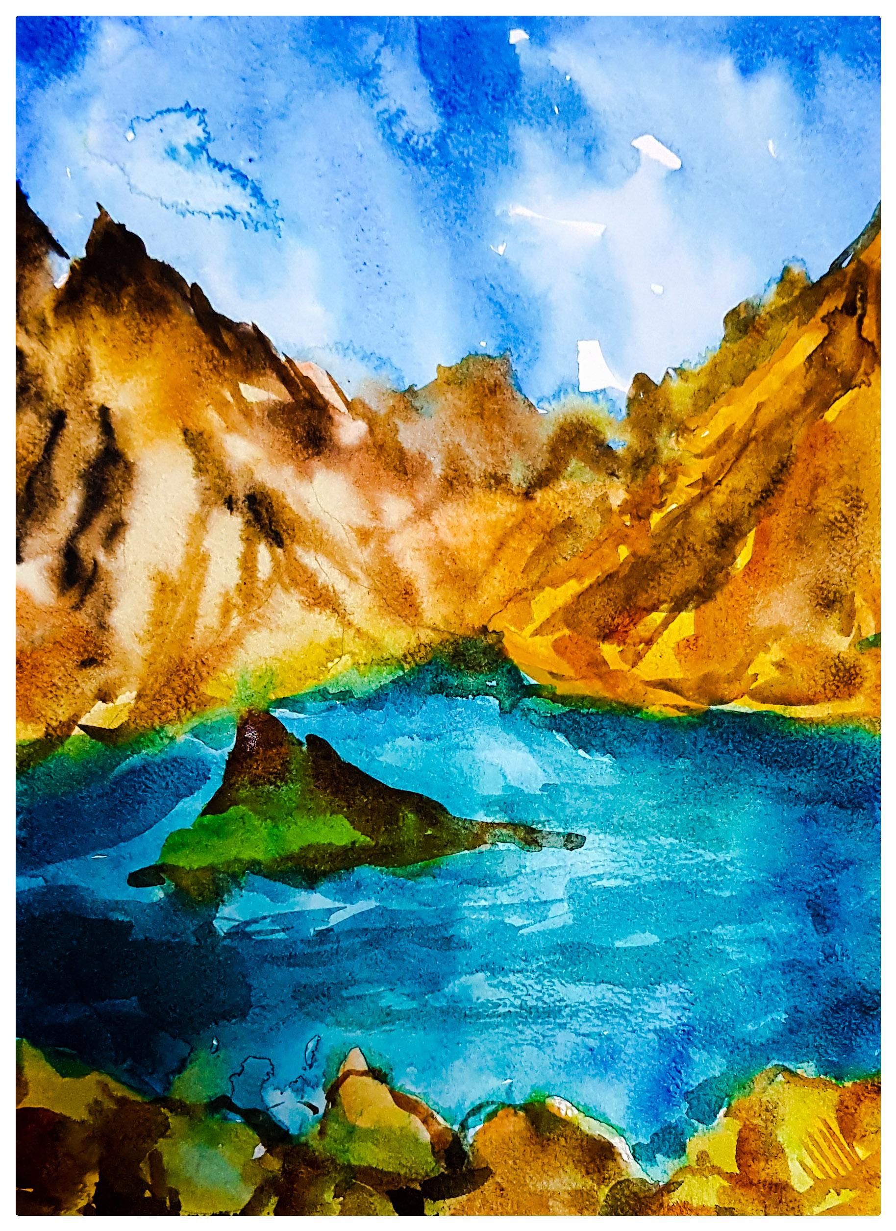 Hatta mountain by Ishita Singh