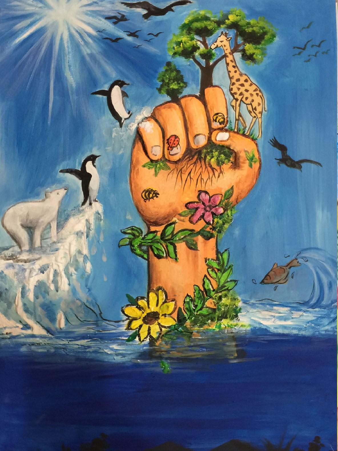 My hand for Animals by Bhuvina velmurugan