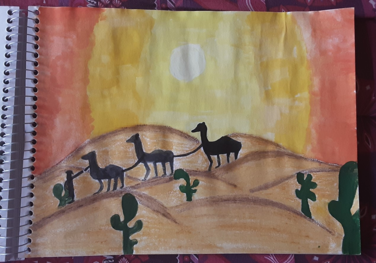 Sunset in the Desert by Rebecca