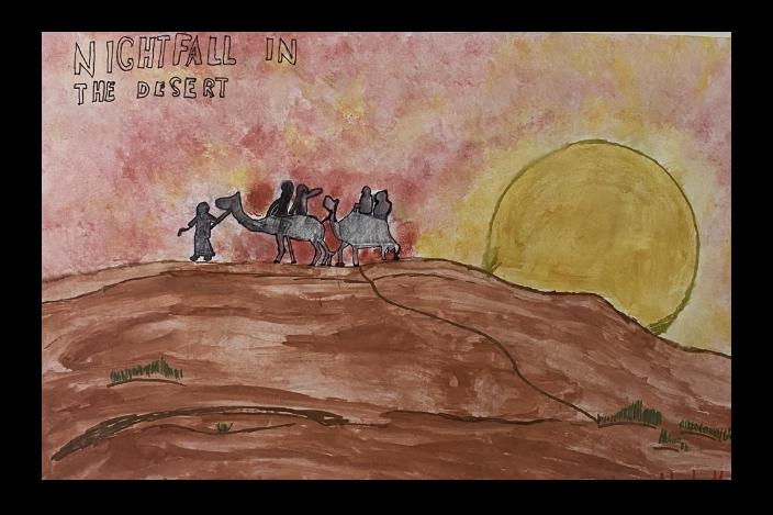 Nightfall in the Desert by Akshath Rathiskanth